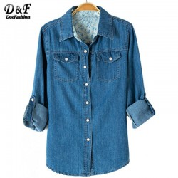 Women-Tops-Fashion-2015-Blusas-Femininas-Fashion-Female-Clothing-Casual-Blue-Lapel-Long-Sleeve-Bleached-Denim-1