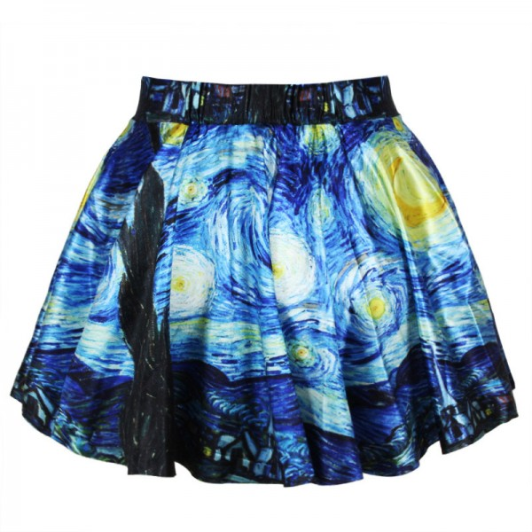 Women-s-Flared-Stretch-Van-Gogh-Starry-Night-3d-Print-Pleated-Mini-Skirts-Skater-Skirt-DQ01-1