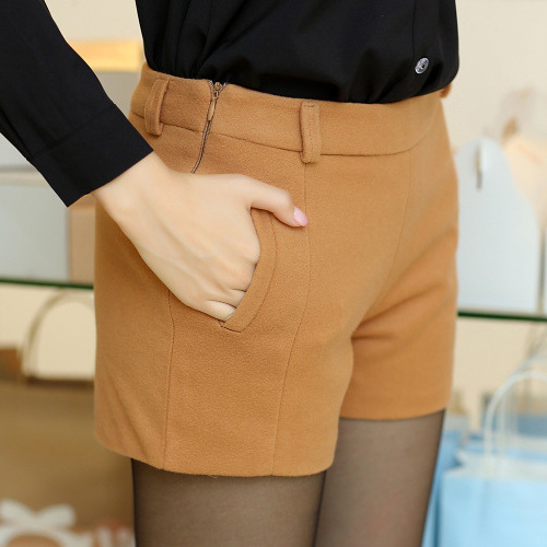 Womens-2014-Lady-s-Girls-Autumn-Winter-Office-mid-Waist-Woolen-Solid-color-Shorts-Fashion-1