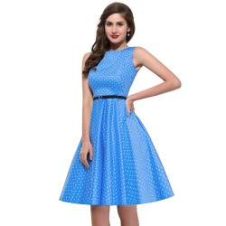 Womens-plus-size-Audrey-hepburn-Vintage-Rockabilly-Dresses-Summer-style-Retro-50s-60s-robe-Dress-Swing-1