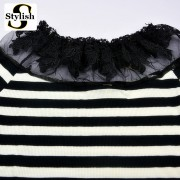 cotton-black-and-white-striped-blouse-Knitted-sweater-women-tops-fashion-2015-lace-floral-embroidery-shirts-4