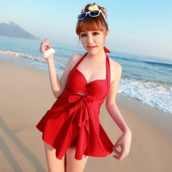 maillot-de-bain-Plus-size-skirt-bikini-piece-set-female-swimwear-little-big-steel-push-up-1