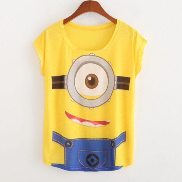 womens-tops-fashion-2015-t-shirt-women-summer-clothingc-Loose-Batwing-sleeve-print-minion-harajuku-camisetas-1