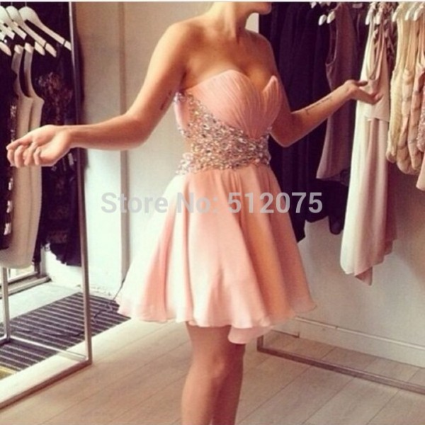 2014-Hot-Sale-Cocktail-Dresses-Sweetheart-Pink-Chiffon-Crystals-Perfect-Lovely-A-line-Cocktail-Party-Dresses-1