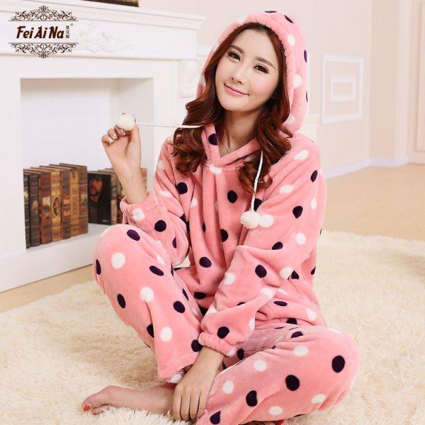 2015-Sheinside-brand-pijama-fashion-Coral-velvet-pijamas-mujer-womens-kigurumi-pijama-vestidos-pajamas-for-women-1