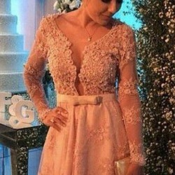 2016-Lace-Applique-Long-Sleeves-Homecoming-Dresses-Beaded-Deep-V-neck-Bow-Sexy-Cocktail-Dresses-Free-1
