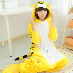 Autumn-winter-coral-fleece-nightwear-women-men-unisex-couple-flannel-pajamas-adult-fall-tiger-kigurumi-animal-1