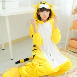 Autumn-winter-coral-fleece-nightwear-women-men-unisex-couple-flannel-pajamas-adult-fall-tiger-kigurumi-animal-1