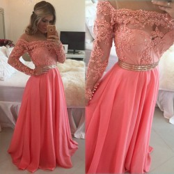 Beautiful-New-Arrival-Sexy-Pink-Long-Sleeves-Evening-Dress-dress-Beaded-Lace-Chiffon-Formal-Gown-robe-1