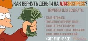 Как вернуть деньги на Алиэкспресс
