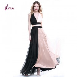 P4692-Two-Tones-Straps-V-neck-Backless-Chiffon-Evening-Dress-Gown-Party-Women-Dresses-2015-1