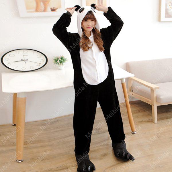 Panda-Onesie-Pajama-Women-Pijama-Unisex-Flannel-Hoodie-Combinaison-Pyjama-Onesies-fleece-sleepwear-kigurumi-1