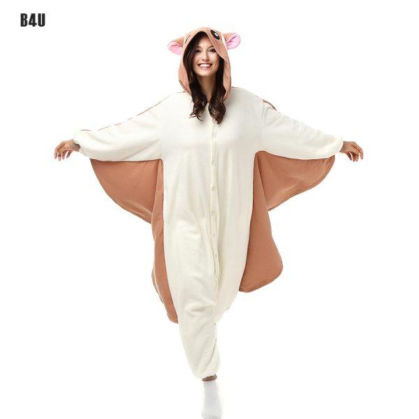 Unisex-Flannel-Fashion-Winter-Pajamas-kigurumi-pijama-Sets-Adult-Anime-Cosplay-Cartoon-Onesie-Sleepwear-Flying-Mouse-1