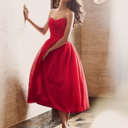 Wholesale-Elie-Saab-Red-Sweetheart-Off-The-Shoulder-Pleat-Chiffon-Mid-Calf-A-Line-Homecoming-Cocktail-1