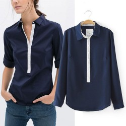 Za-Brand-Shirt-Women-s-Turn-Down-Collar-Long-Sleeve-Blouse-Casual-Slim-Patchwork-Shirt-Ropa-1