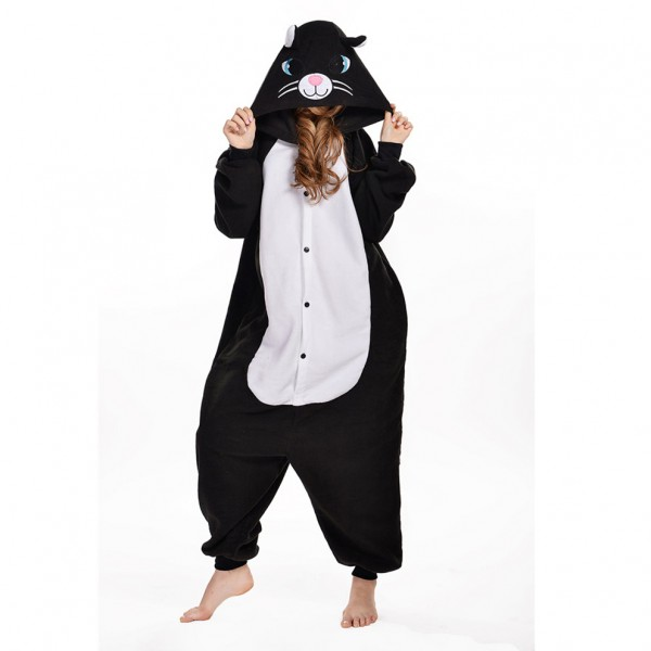 hot-sale-autumn-and-winter-kigurumi-cat-pajamas-super-cute-black-cartoon-cat-onesie-pajamas-pijama-1