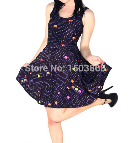 2016-Kawaii-Women-Summer-Dresses-Cartoon-Vestidos-Pupu-Push-3D-Print-Casual-Pleated-Dresses-Party-Vestdios-1