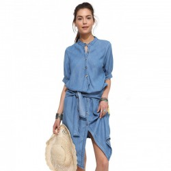 2016-New-Fashion-Asymmetrical-Women-Denim-Dress-Elegant-Short-Sleeve-Casual-Summer-Dresses-Ladies-Jeans-Dress-1