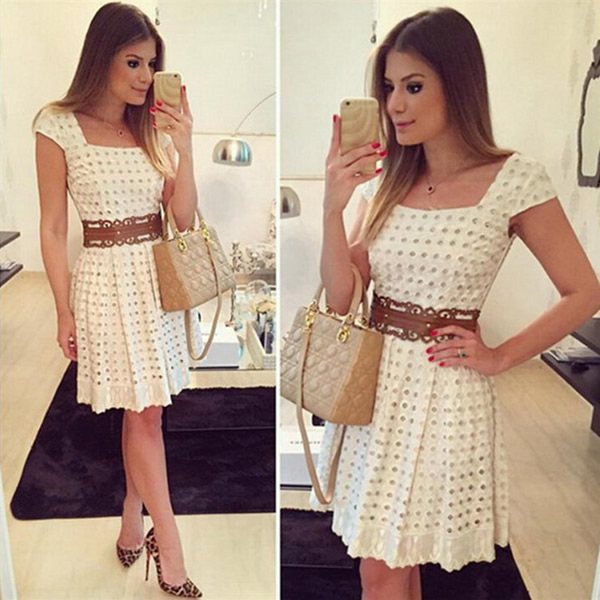 2016-Summer-Dress-Fashion-Women-short-sleeve-Polka-Dot-Casual-Loose-Plus-Dress-Sexy-Beachwear-Cotton-1