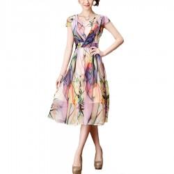 2016-Summer-Dress-New-Large-Size-Women-Slim-sleeveless-round-neck-Chiffon-Women-Dress-Printing-Put-1