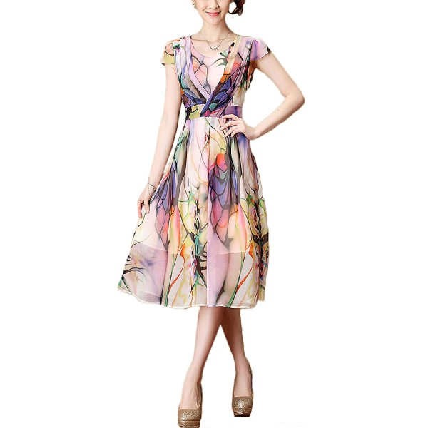 2016-Summer-Dress-New-Large-Size-Women-Slim-sleeveless-round-neck-Chiffon-Women-Dress-Printing-Put-1