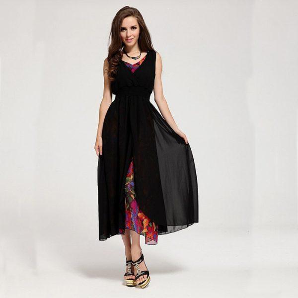 Black-womens-summer-dresses-free-shipping-fashion-tall-women-dresses-asymmetric-special-women-clothing-DER15g-1-1