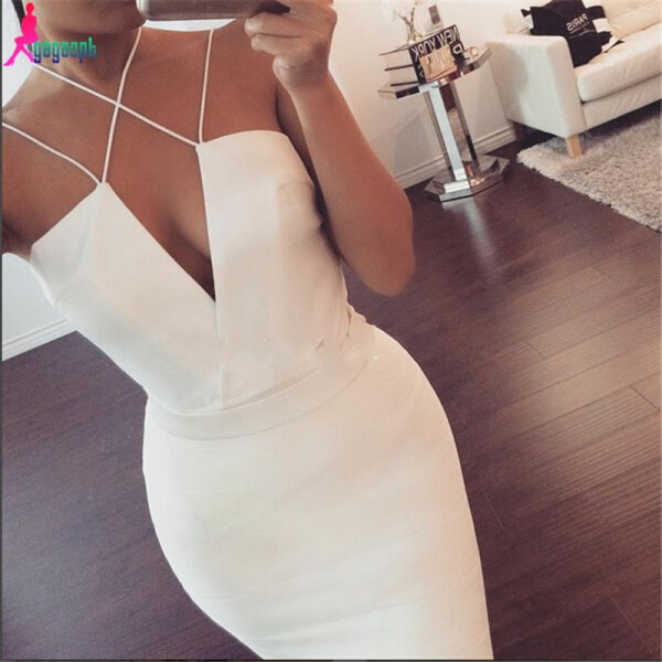 Gagaopt-2016-Summer-Dresses-V-neck-Party-DresSexy-Bodycon-Dresses-Solid-White-Dress-Free-Shipping-Bandage-1