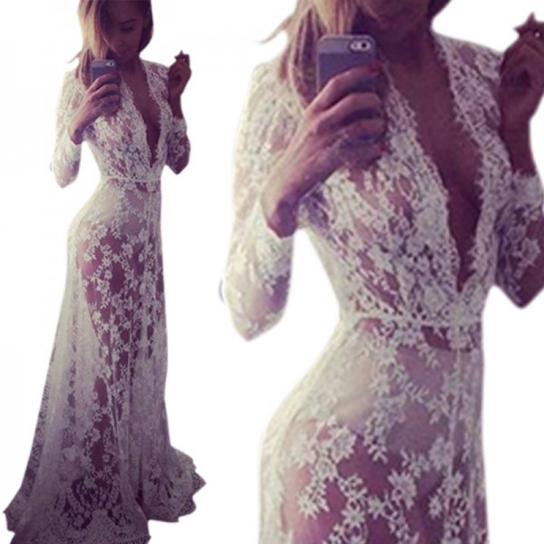 Women-Fashion-Summer-Dresses-Asymmetrical-Patchwork-Dresses-Hollow-Out-Long-Sleeve-V-Neck-Lace-Maxi-Dresses-1