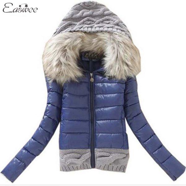 1PC-2016-Women-Winter-Coat-Cotton-Padded-Jacket-Short-Knitted-Hood-Fur-Collar-Womens-Winter-Jackets-1