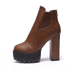 2015-new-autumn-and-winter-ankle-boots-Short-boots-thick-with-High-heels-Waterproof-platform-leather-1
