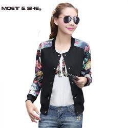 2016-Autumn-New-Women-s-Street-Style-Black-Baseball-Flower-Print-Coat-Jacket-Short-Floral-Jackets-1