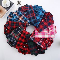 2016-Fashion-Plaid-Shirt-Female-College-style-women-s-Blouses-Long-Sleeve-Flannel-Shirt-Plus-Size-1