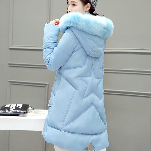 2016-Five-Color-Plus-Size-Korea-Fashion-Female-Outwear-Thick-Warm-Parka-Fur-Hooded-Down-Cotton-1