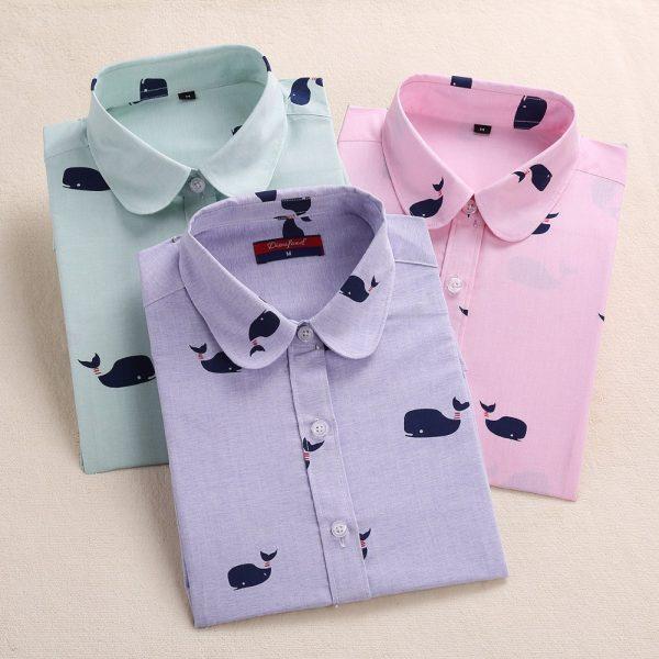 2016-Floral-Summer-Women-Blouse-Cute-Pattern-Women-s-Shirt-Cotton-Long-Sleeve-Blouse-Casual-Turn-1