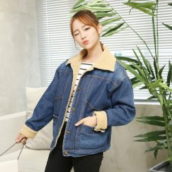 2016-New-Women-s-Spring-Autumn-Short-Denim-Jacket-Women-Winter-Slim-Trun-Down-Collar-Woolen-1