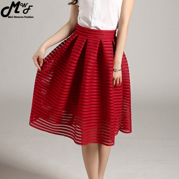 2016-Summer-New-Style-Sexy-Fashion-Skirt-women-Striped-Hollow-out-Fluffy-Skirt-Swing-Skirts-Ladies-1