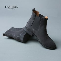 2016-Winter-Chelsea-Genuine-Leather-Women-Boots-Matte-Platform-Flat-Women-s-Boot-Shoes-Black-Grey-1