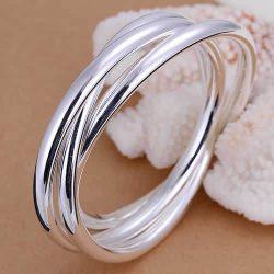 B047-fashion-Jewelry-925-silver-Bracelet-Bangle-Cuff-fashion-bracelet-for-women-Three-circles-orologio-uomo-1