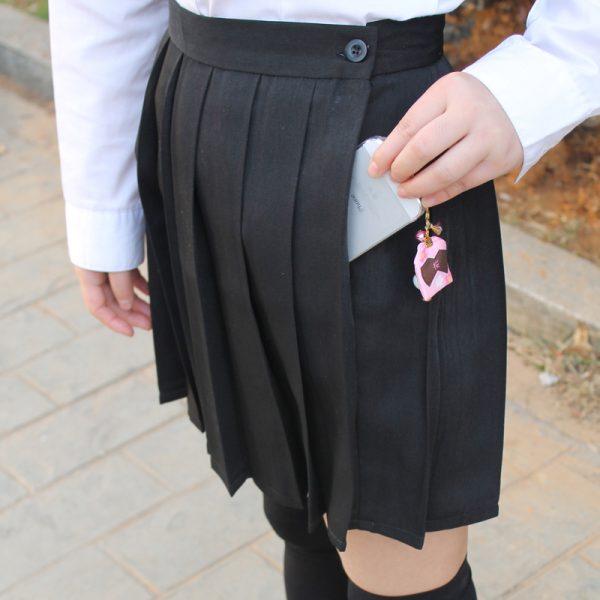 Black-color-Japanese-high-waist-JK-student-Girls-Cute-Cosplay-school-uniform-skirt-with-pocket-1