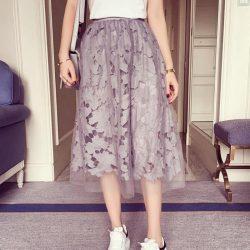 Elastic-waist-Lace-flower-length-skirt-2016-new-spring-Water-soluble-lace-yarn-elastic-waist-skirt-1