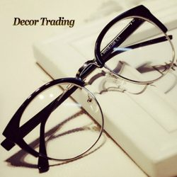 Fashion-Cat-Eye-Half-Metal-Frame-Glasses-For-Women-Men-Retro-Vintage-Unisex-Glasses-Big-Frame-1