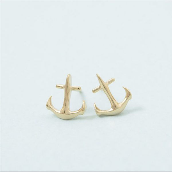 Fashion-anchor-earrings-Sailors-love-stud-earrings-for-women-wholesale-free-shipping-1
