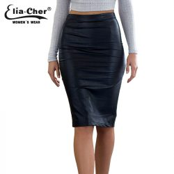 Faux-Leather-Sexy-Pencil-Skirt-2016-Chic-FashionWomen-Plus-Size-Clothing-Sheath-Lady-Knee-Length-Skirts-1