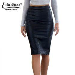 Faux-Leather-Sexy-Pencil-Skirt-2016-Chic-FashionWomen-Plus-Size-Clothing-Sheath-Lady-Knee-Length-Skirts-1