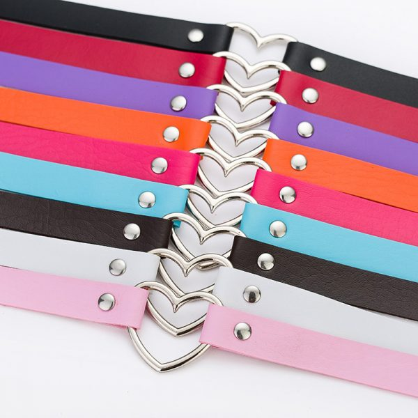 Hot-Sale-Fashion-Sexy-Punk-Gothic-Leather-Choker-necklace-Heart-Studded-Spike-Rivet-Buckle-Collar-Funky-1