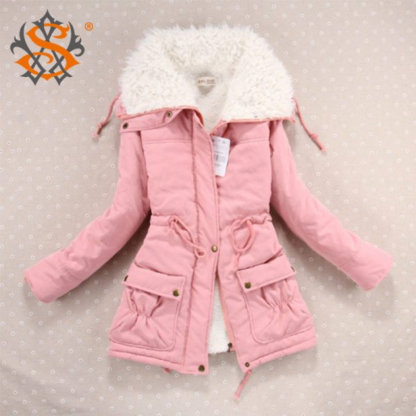 New-2016-Winter-Coat-Women-Slim-Plus-Size-Outwear-Medium-Long-Wadded-Jacket-Thick-Hooded-Cotton-1