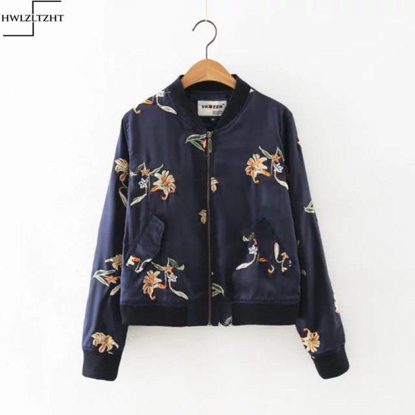 New-Autumn-Women-s-Jacket-Flower-Embroidery-Bomber-Jacket-Women-Long-Sleeve-Basic-Jacket-Women-Coat-1