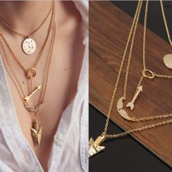 New-Exaggeration-Jewelry-Women-Collar-Colar-Alloy-18K-Gold-Multilayer-Chains-Crystal-Wing-Punk-Triangle-Necklaces-1