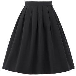 New-Faldas-Saia-2016-Summer-Style-Vintage-Skirt-High-Waist-Work-Wear-Womens-Fashion-Red-Blue-1