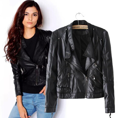 New-Fashion-Autumn-Women-s-Jacket-Washing-PU-Leather-Zipper-Motorcycle-Leather-Short-Jacket-1